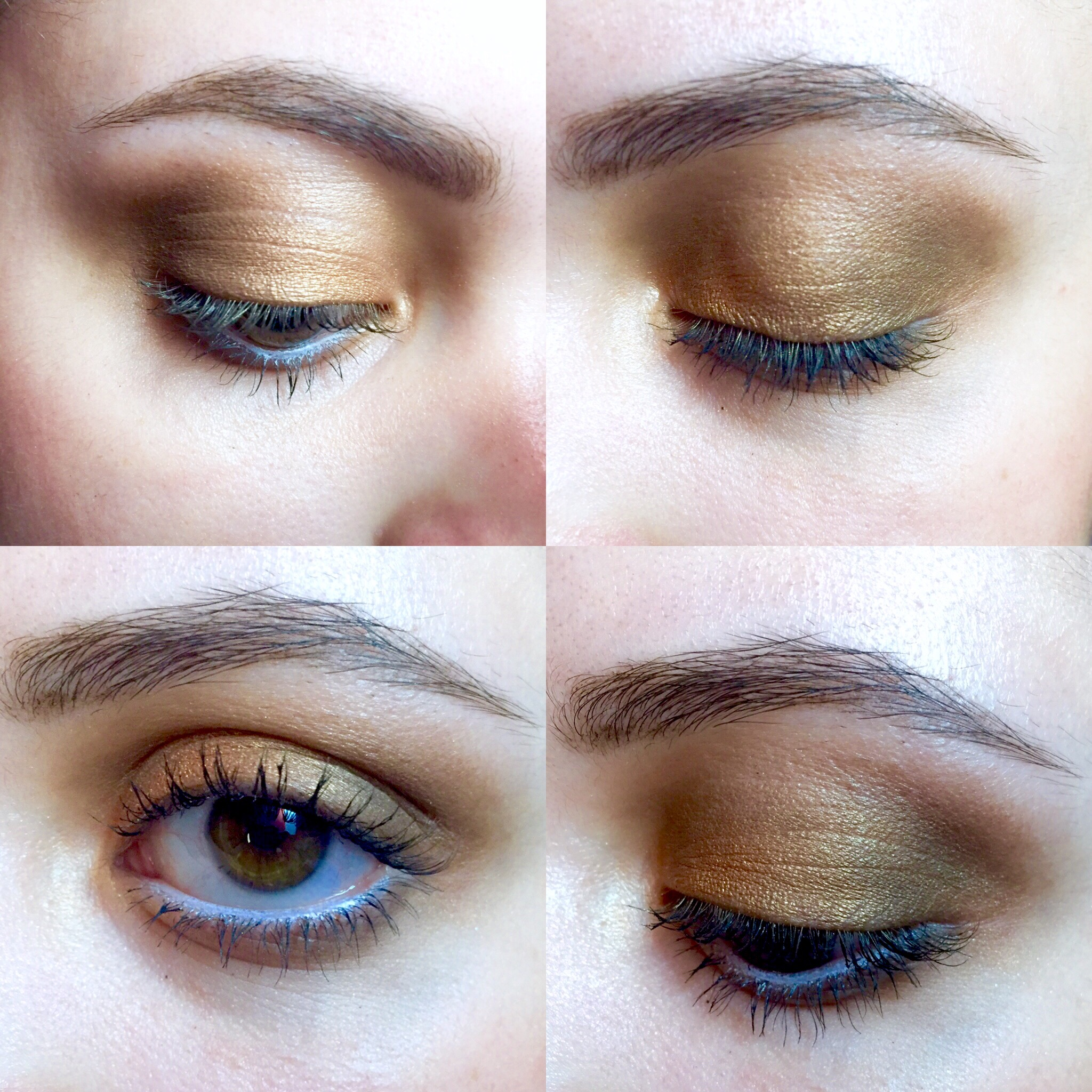 Soft Gold Eye Look