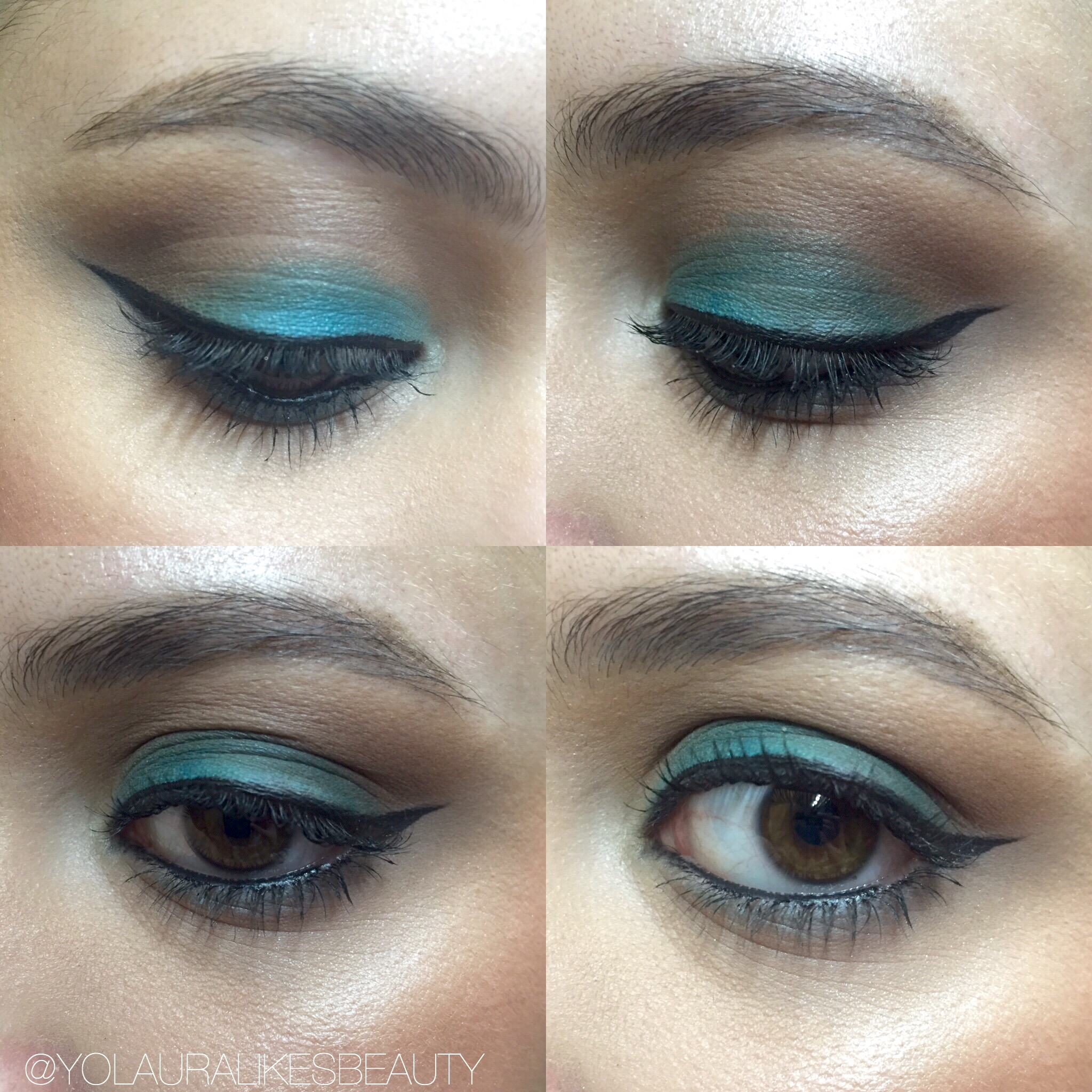 Teal Eyeshadow Look