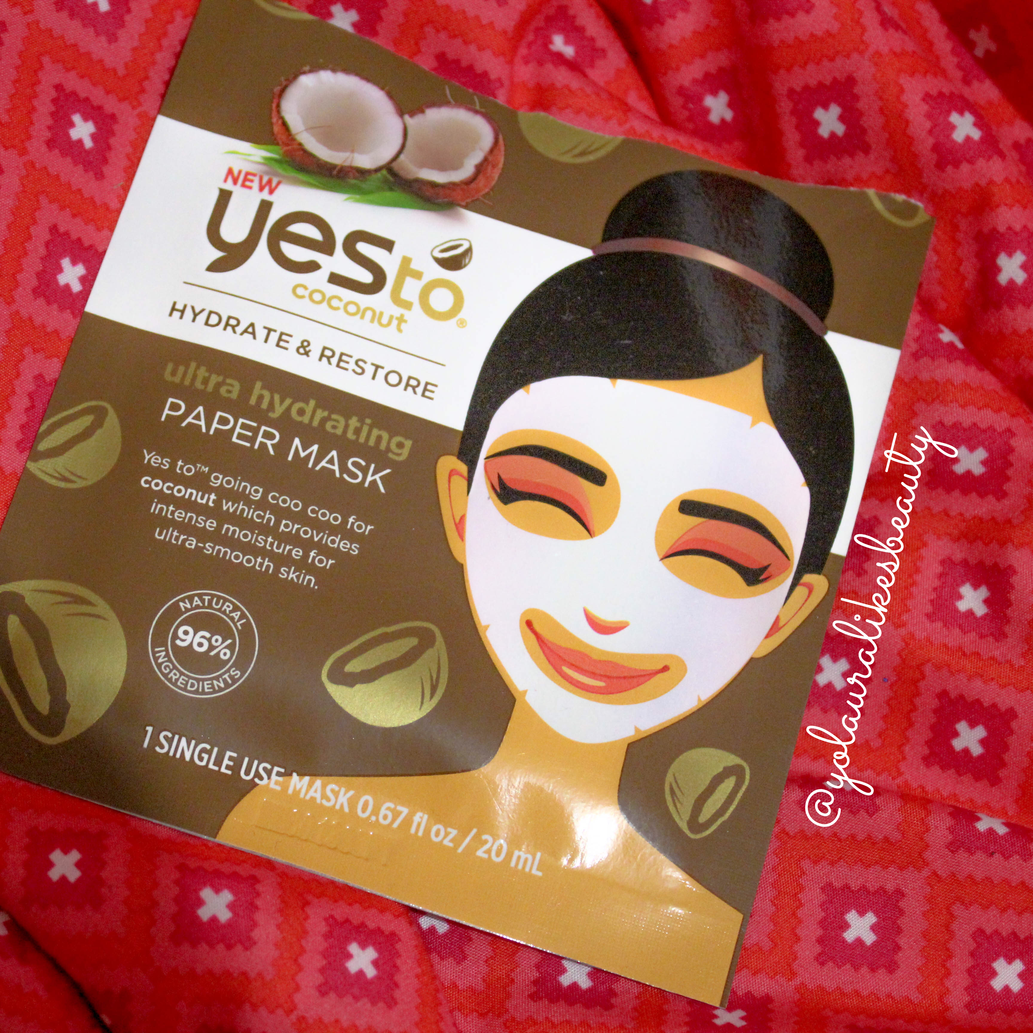 Yes to Coconuts Hydrate & Restore Ultra Hydrating Paper Mask Review